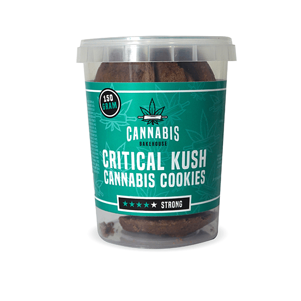 Cannabis Cookies Critical Kush THC Free 150g (24boxes/masterbox)