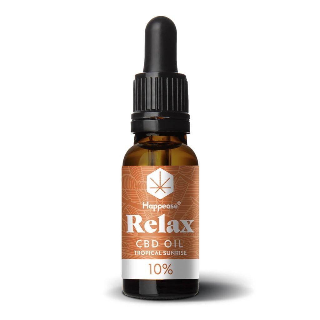 Happease® Relax 10% CBD Oil Tropical Sunrise (10ml)