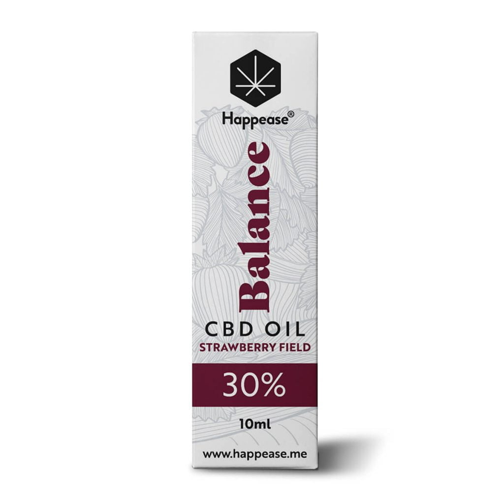 Happease® Balance 30% CBD Oil Strawberry Field (10ml)