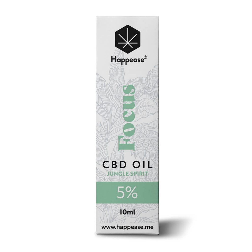 Happease® Focus 5% CBD Oil Jungle Spirit (10ml)