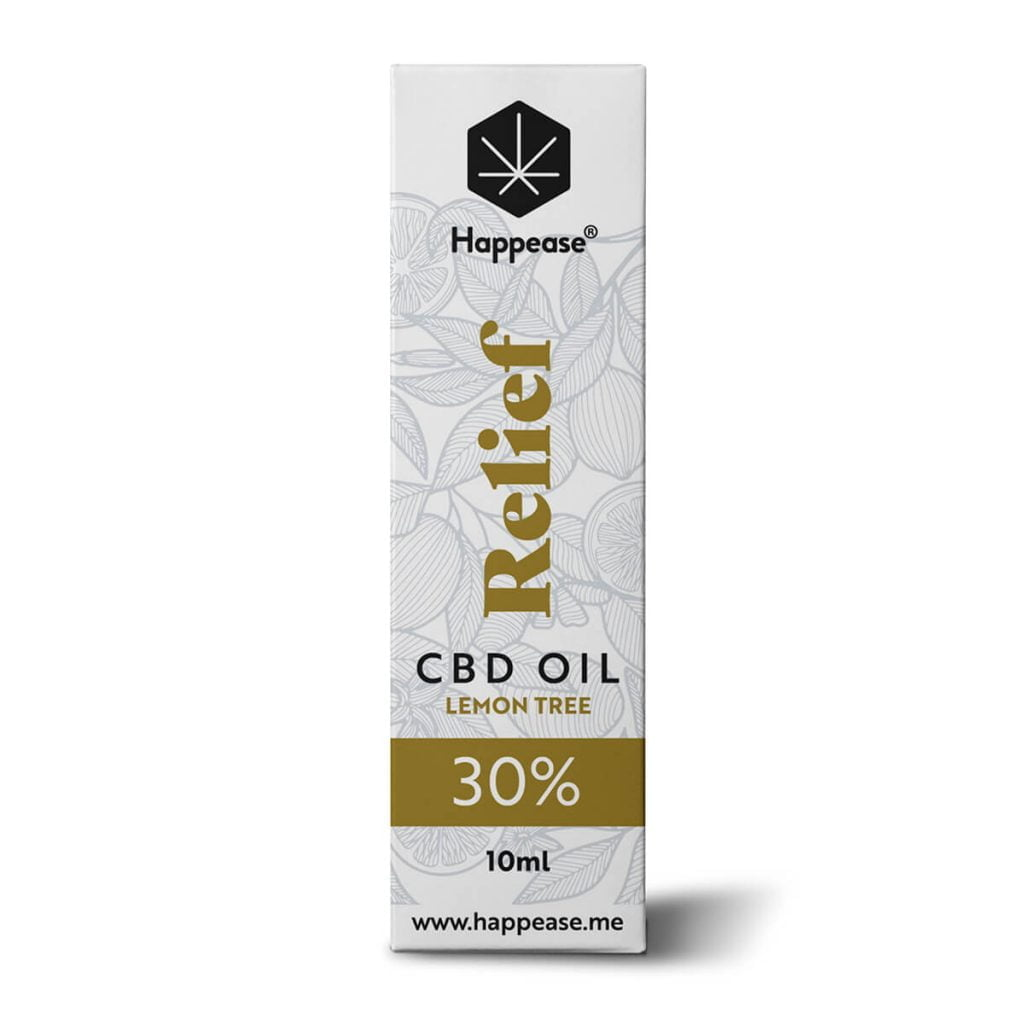 Happease® Relief 30% CBD Oil Lemon Tree (10ml)