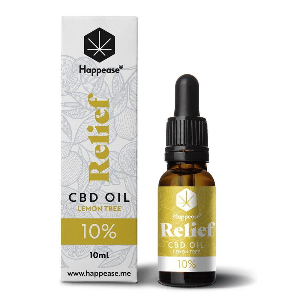 Happease® Relief 10% CBD Oil Lemon Tree (10ml)