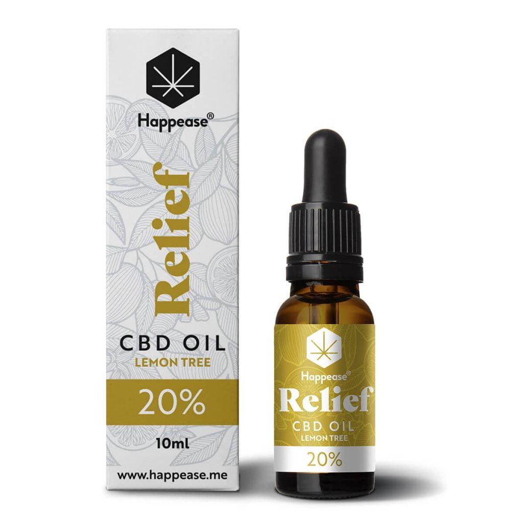 Happease® Relief 20% CBD Oil Lemon Tree (10ml)