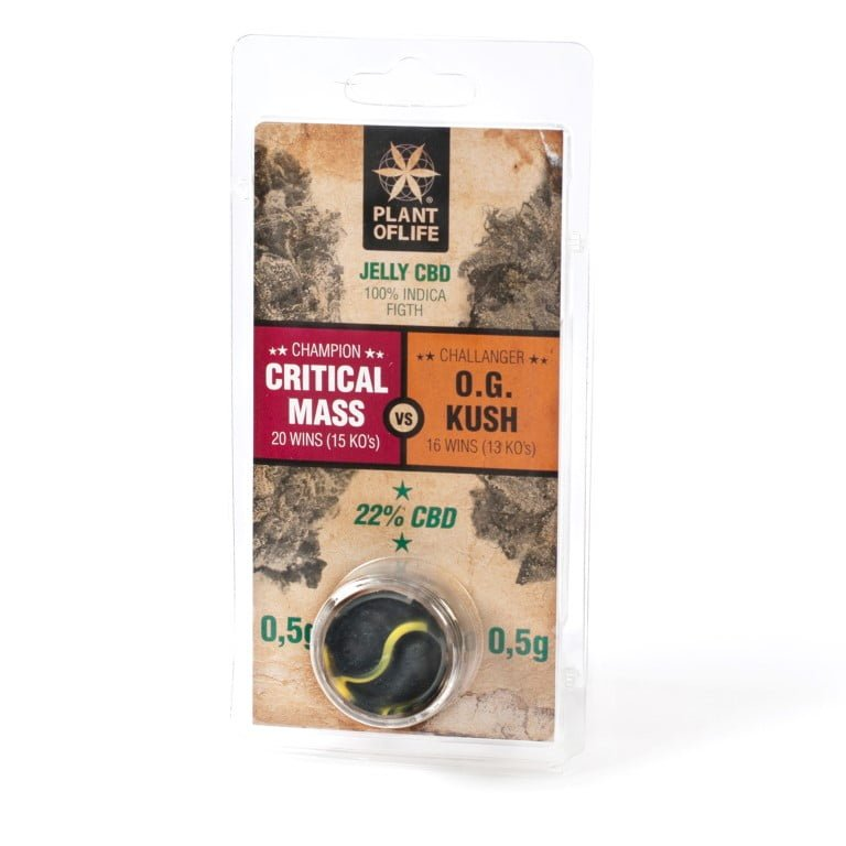 Plant of Life CBD Jelly 22% Critical vs OG Kush (1g)