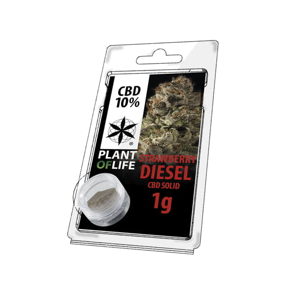 Plant of Life CBD Solid 10% Strawberry Diesel (1g)