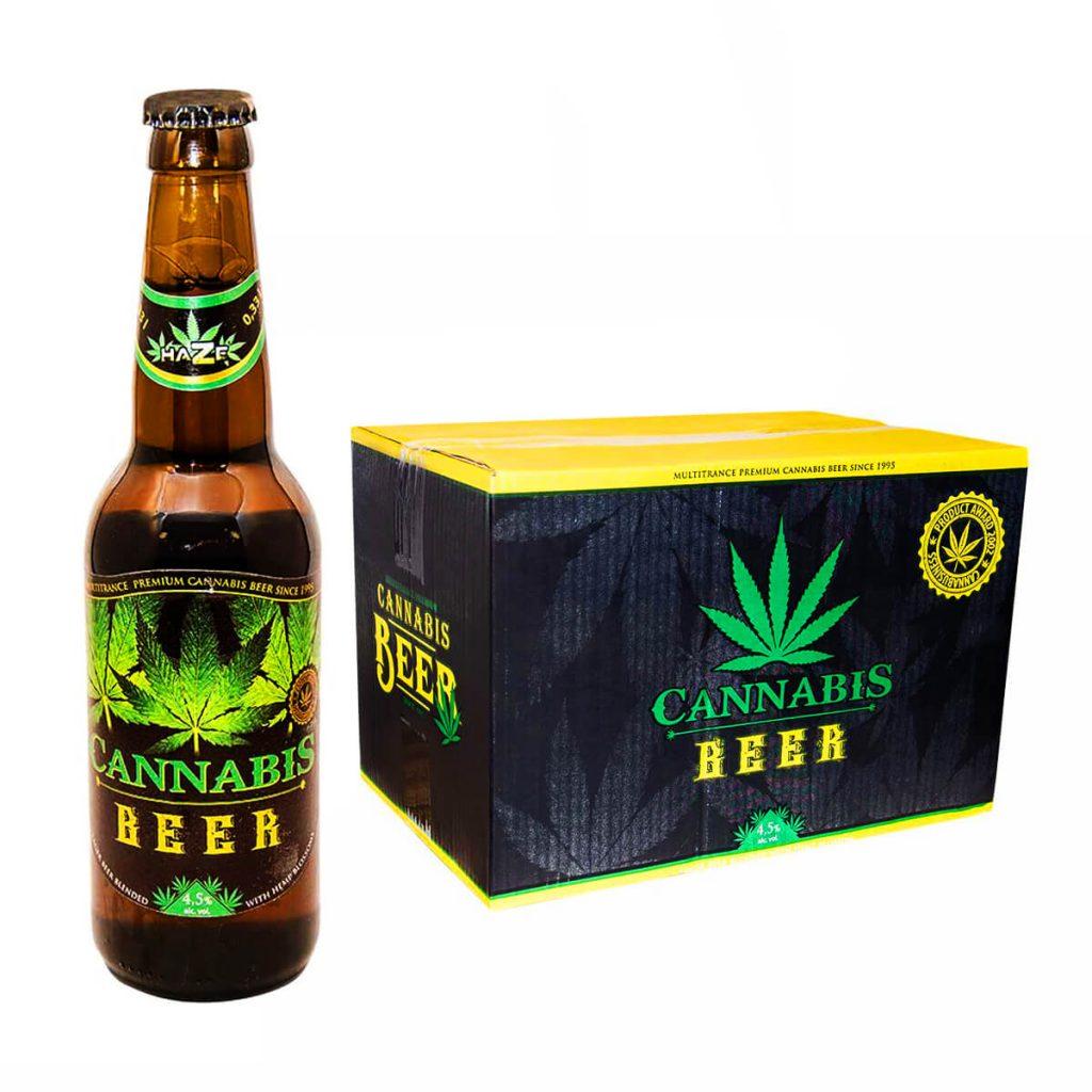 Cannabis Flavoured Beer Green Leaf 330ml - 4.5% Alc. (24bottles/masterbox)