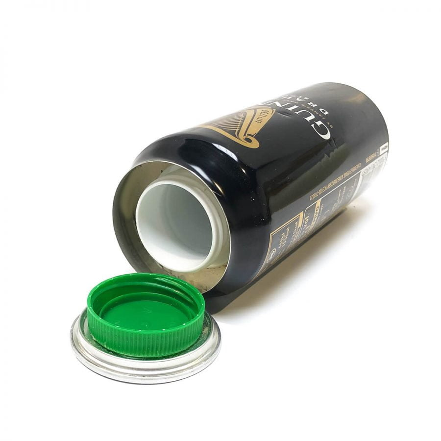 Dark beer aluminium smart stash can