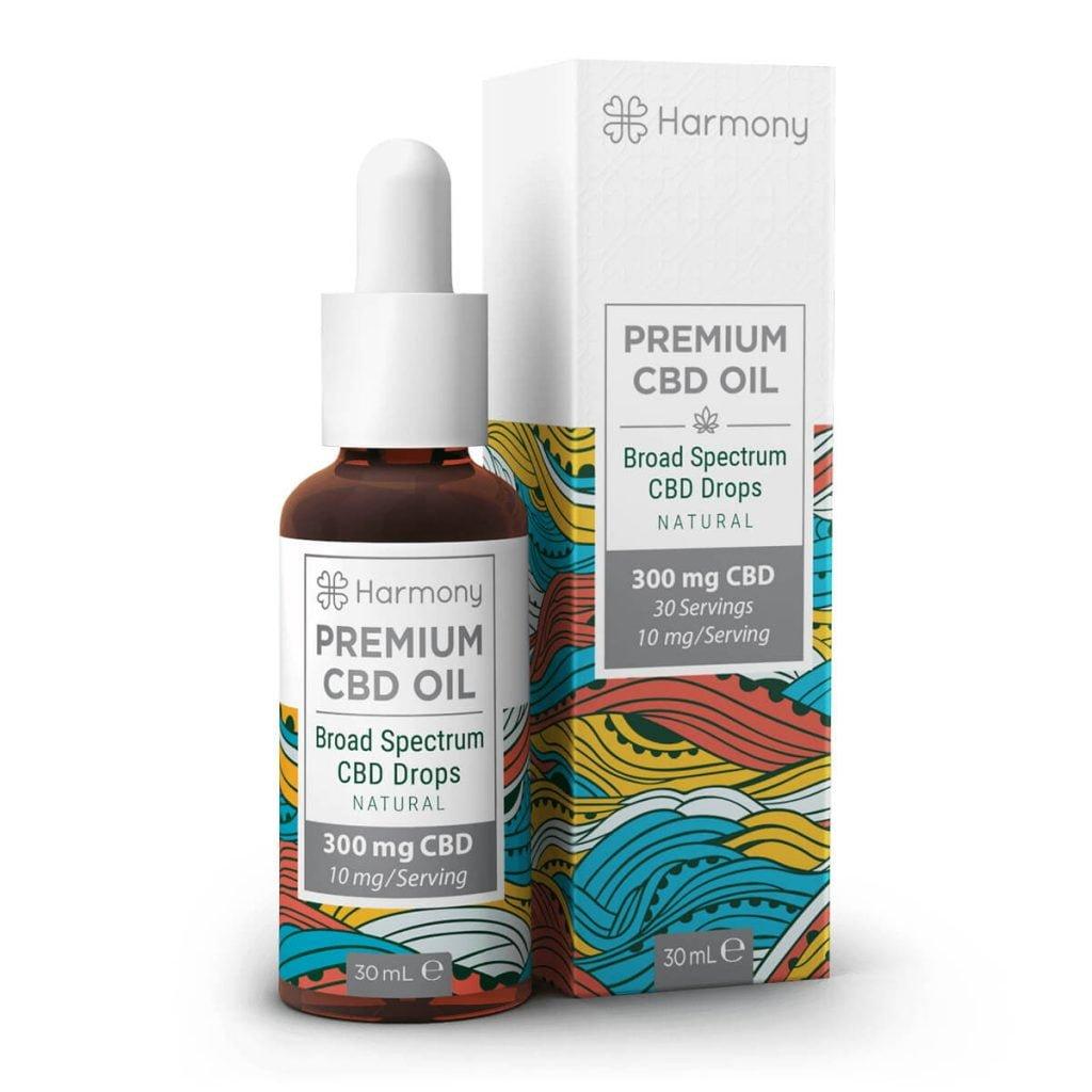 Harmony Selfcare Broad Spectrum Drops - Natural Flavor - 300mg CBD (30ml)