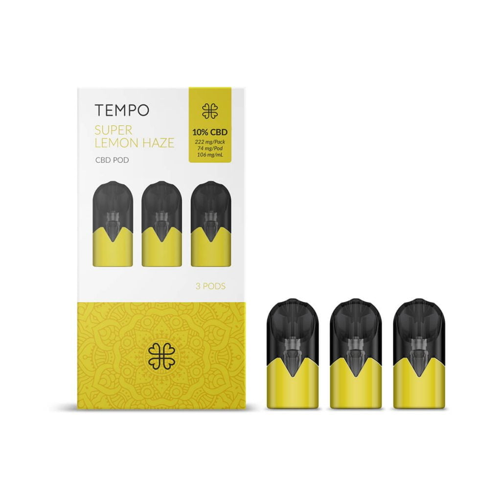 Harmony TEMPO Super Lemon Haze 3 Pods Pack 222mg CBD (3x74mg)