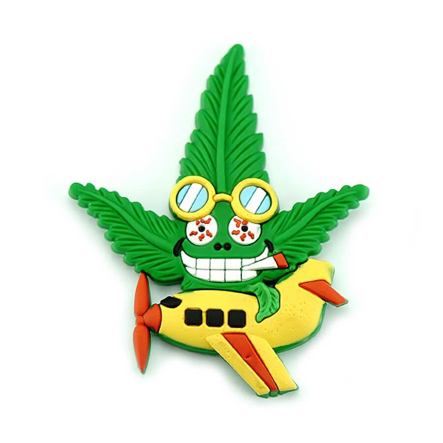Hempy the Pilot Silicon Cannabis 3D Magnet