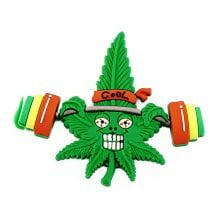 Hempy the Body Builder Silicon Cannabis 3D Magnet