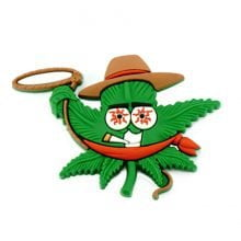 Hempy the Cowboy Silicon Cannabis 3D Magnet