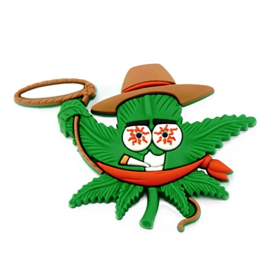 Hempy the Cowboy Silicon Cannabis 3D Magnet