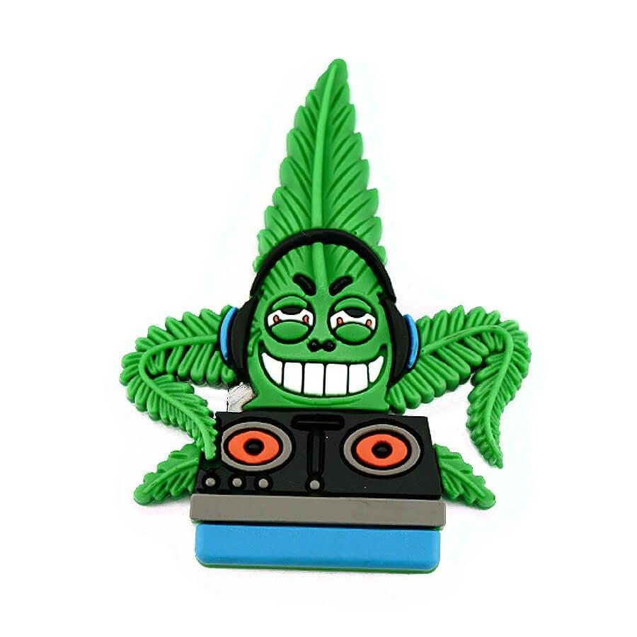 Hempy the DJ Silicon Cannabis 3D Magnet