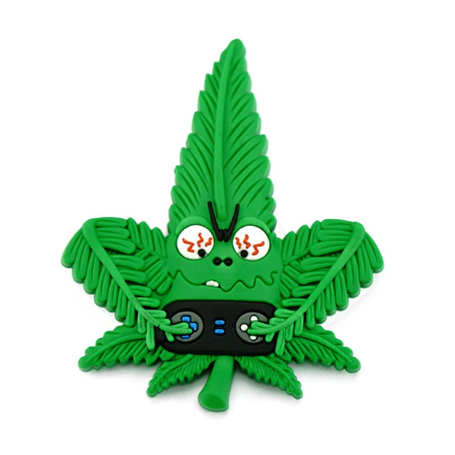 Hempy the Gamer Silicon Cannabis 3D Magnet