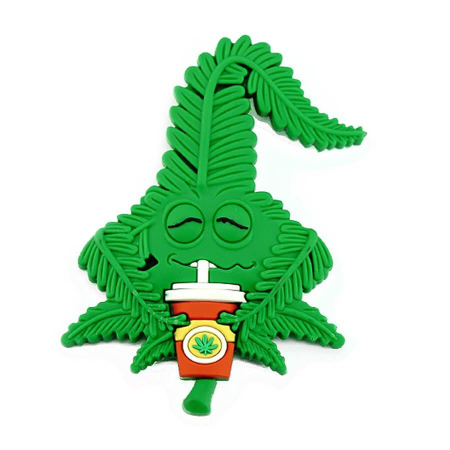Hempy the Hempshake Silicon Cannabis 3D Magnet