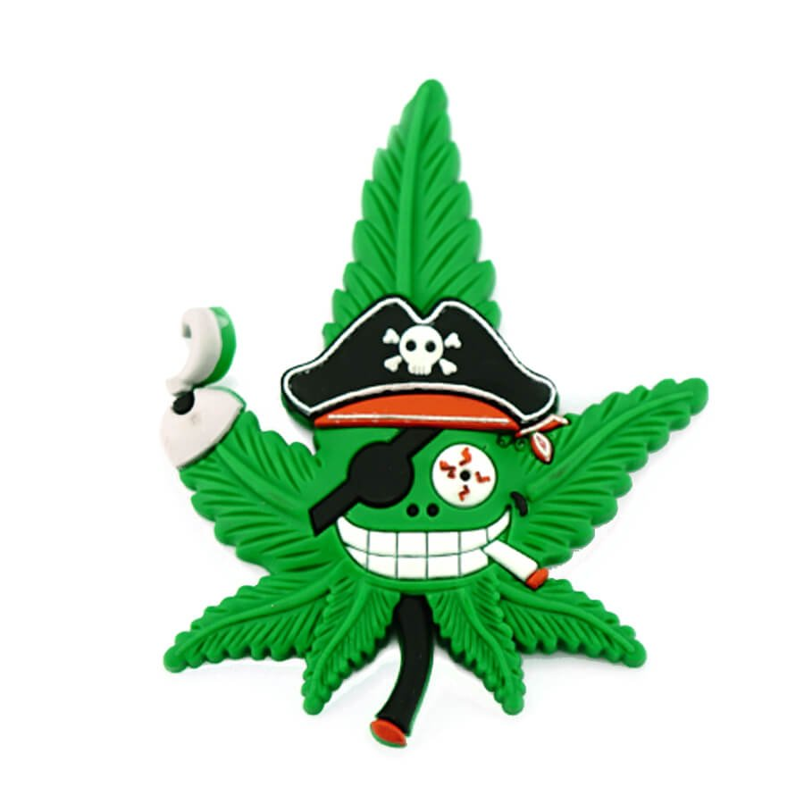 Hempy the Pirate Silicon Cannabis 3D Magnet
