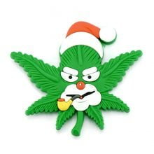 Hempy the Santa Stoner Silicon Cannabis 3D Magnet