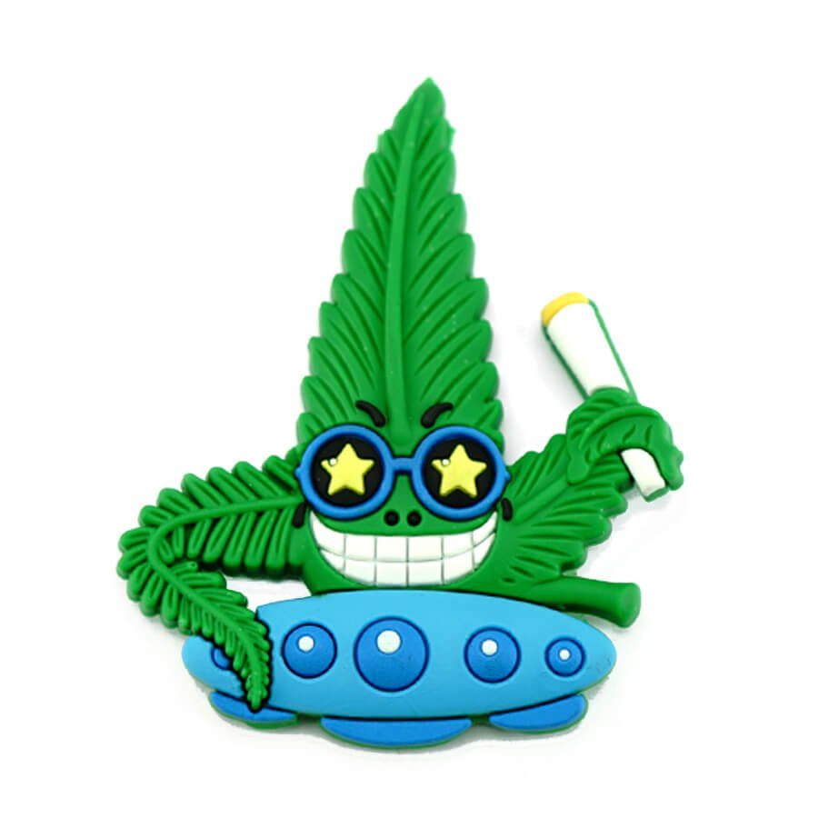 Hempy the Spacestoner Silicon Cannabis 3D Magnet
