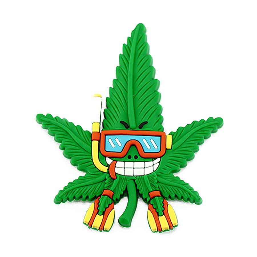 Hempy the Sub Silicon Cannabis 3D Magnet