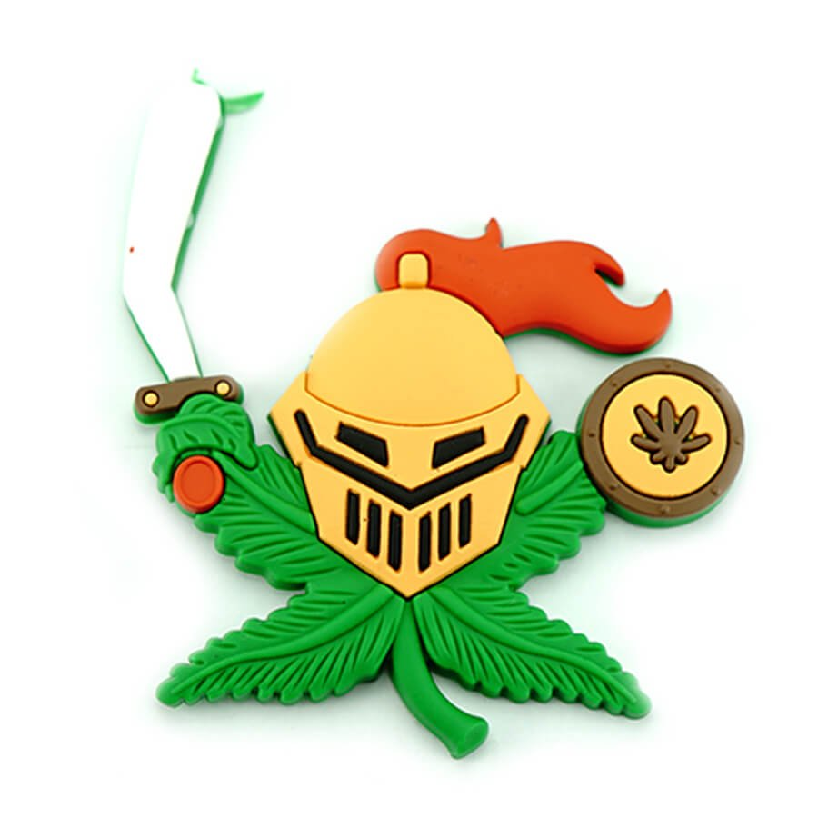 Hempy the Knight Silicon Cannabis 3D Magnet