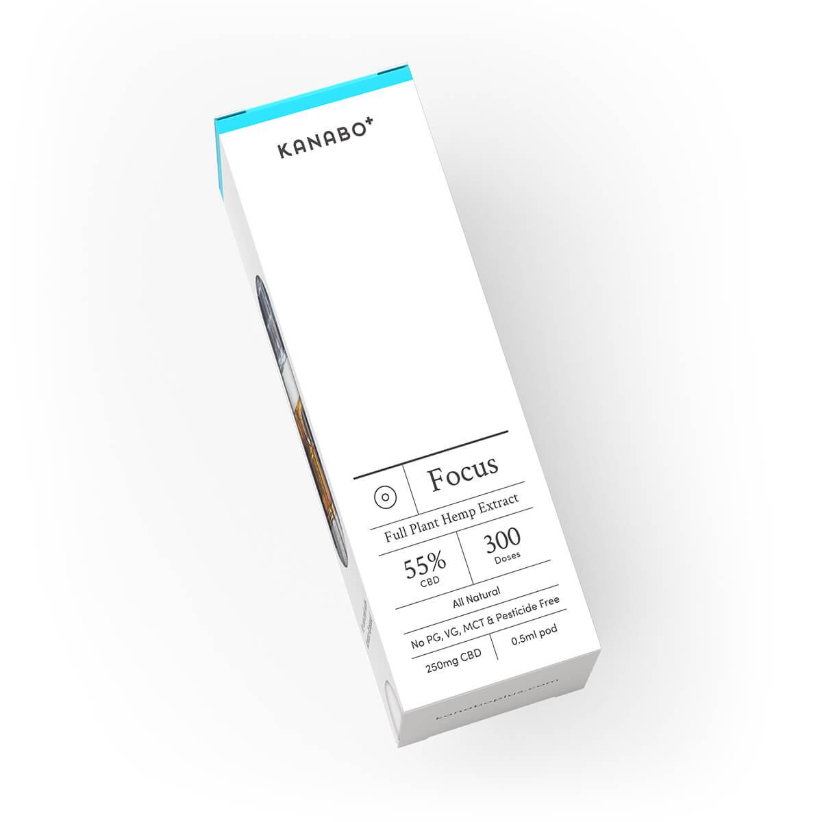 Kanabo Focus 55% CBD 0.5ml Pod Vapepod Compatible CCELL Tecnology