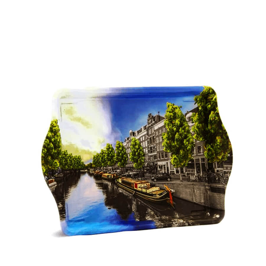 Amsterdam Canals Small Metal Rolling Tray