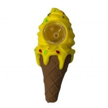 Yellow Ice Cream silicone smoking pipe