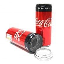Cola zero aluminium smart stash can