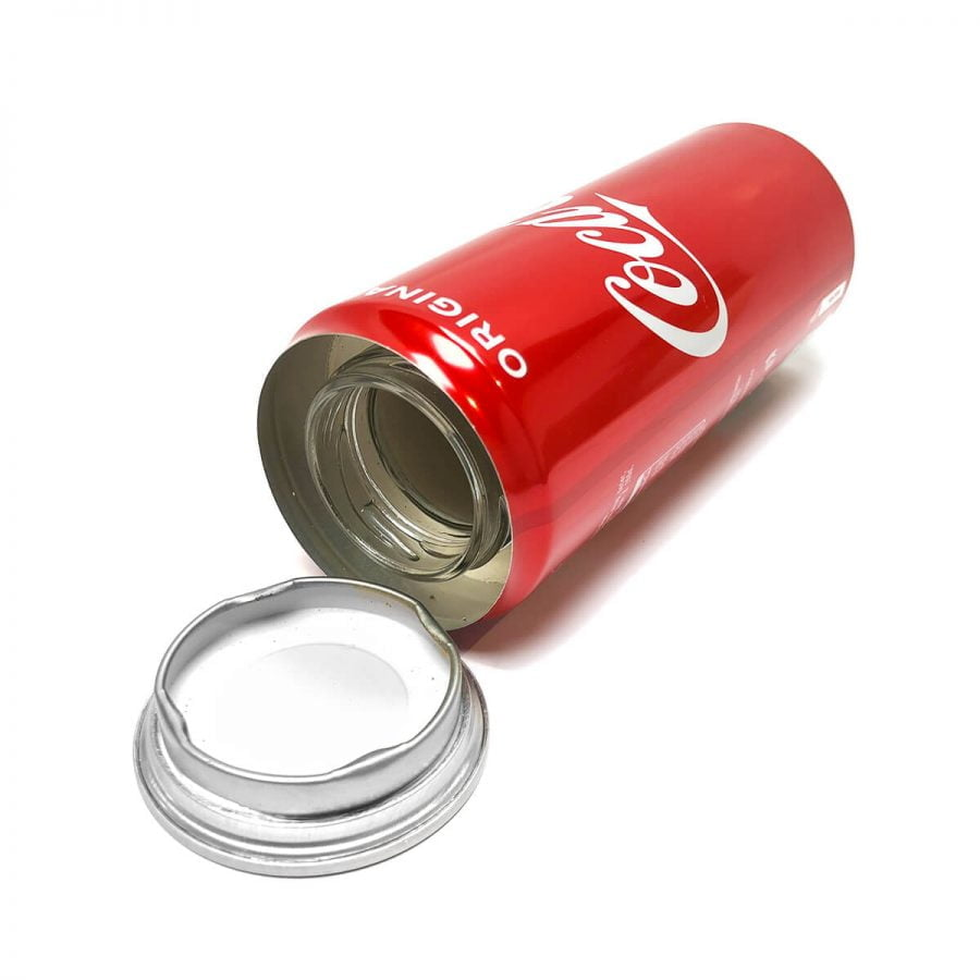 Cola drink aluminium smart stash can