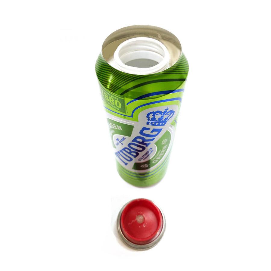 Green beer aluminium smart stash can
