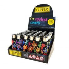 Clipper™ Pop Covers Leavers silicone lighters (30pcs/display)