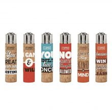 Clipper Positive Phrases Cork Cover Lighters (30pcs/display)