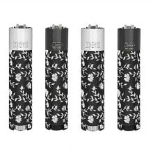 Clipper Silver Pattern Mini Metal Lighters (12pcs/display)