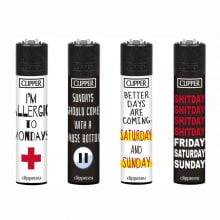 Clipper Wk-End Sentences Lighters (24pcs/display)