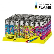 Clipper™ Floral Print Torch lighters (48pcs/display)