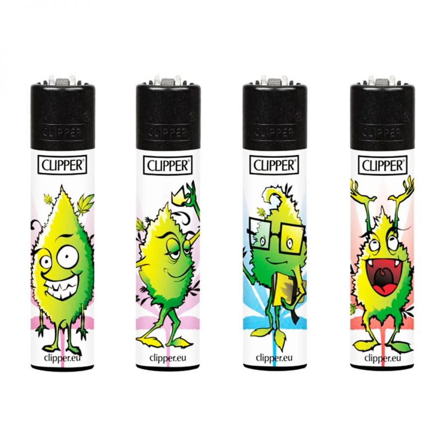 Clipper™ Leaves Faces lighters (24pcs/display)