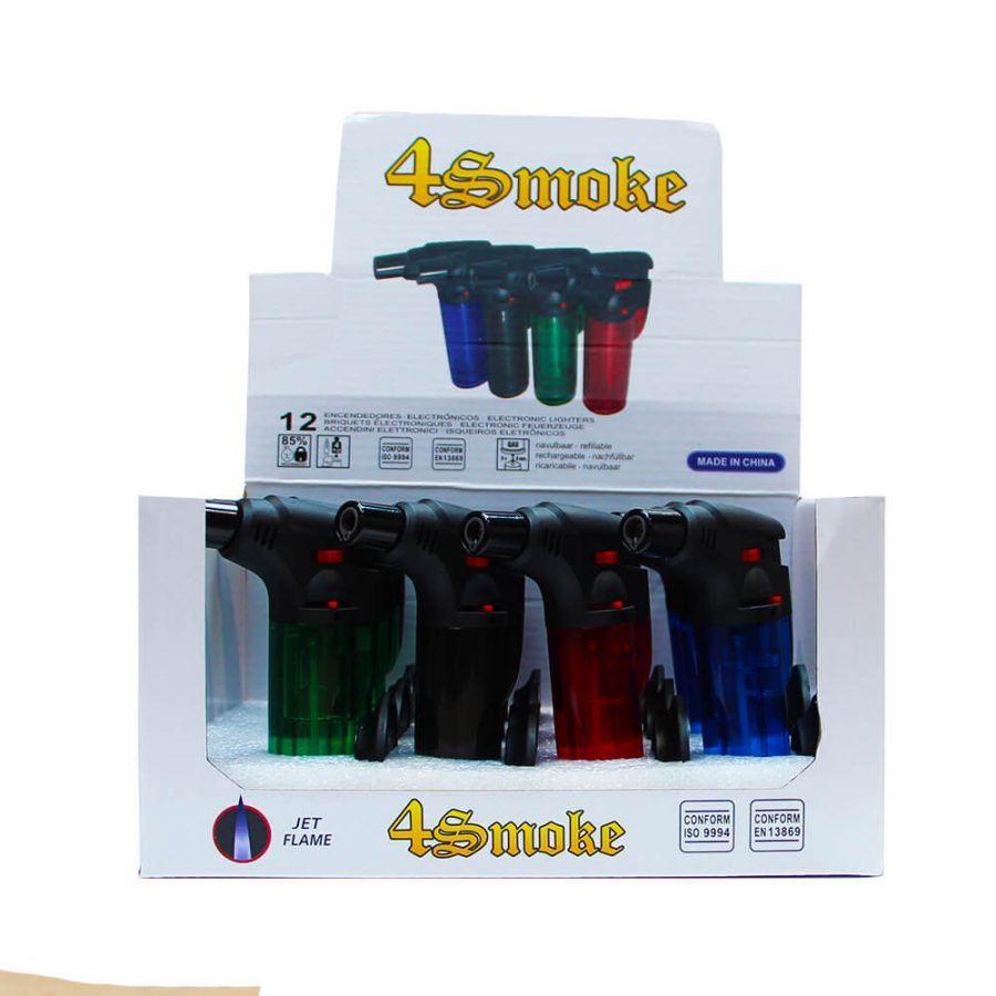 Torch Dab Lighters Windproof Flame Mix Color (12pcs/display)