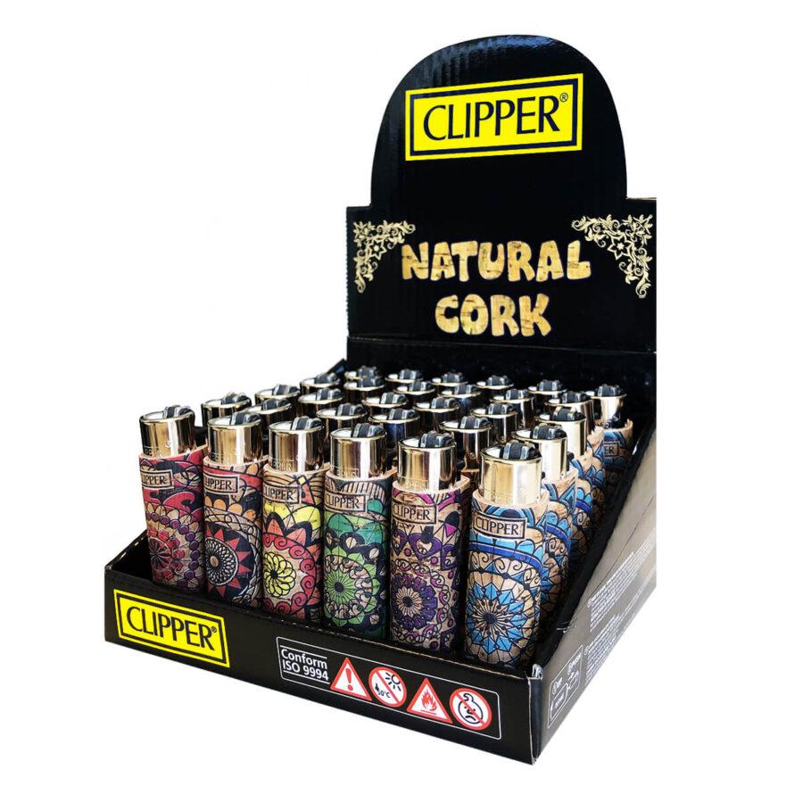 Clipper™ Pop Covers Mandala cork lighters (30pcs/display)