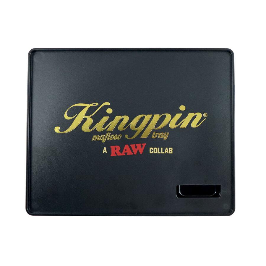 RAW & Kingpin Mafioso Large Plastic Rolling Tray
