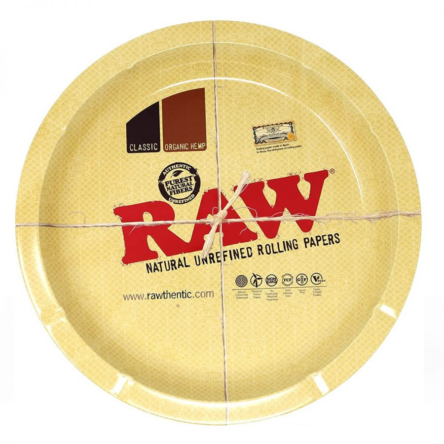 RAW Metal Round Rolling Tray 31cm