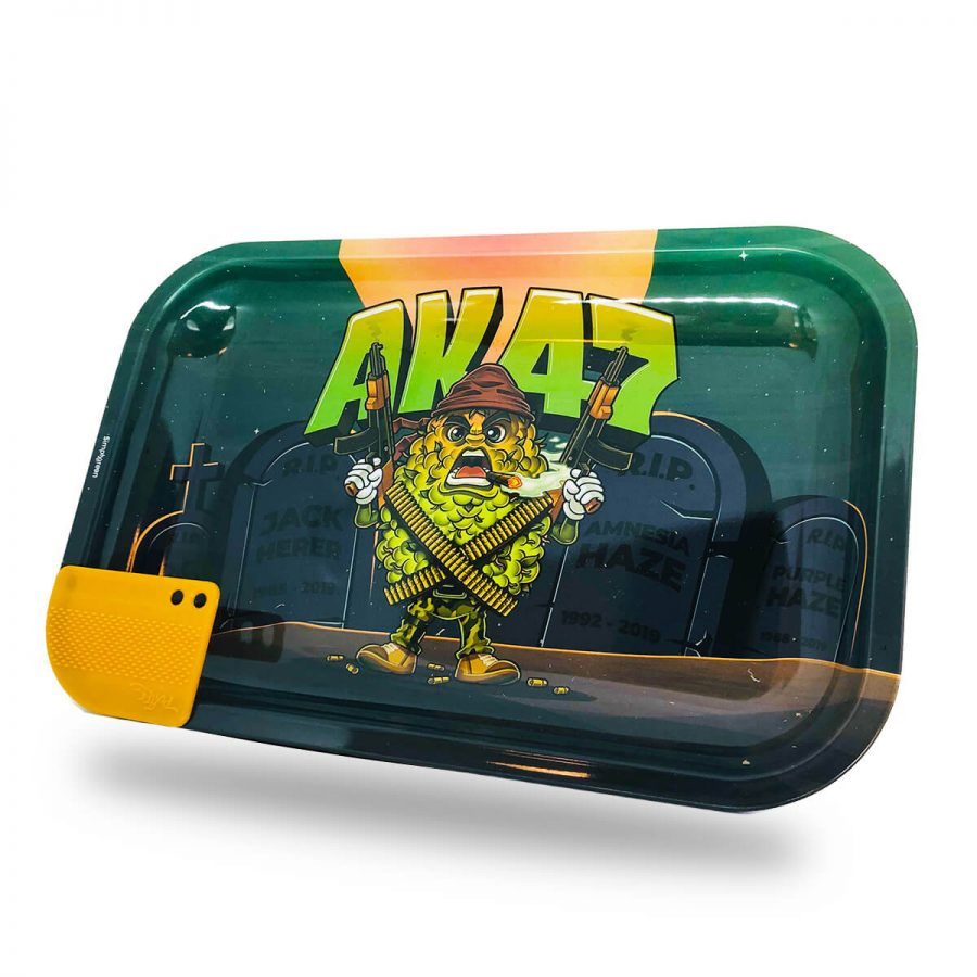 Best Buds - Mission AK47 Large Rolling Tray (with magnetic Grinder Card)