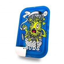 Best Buds - Grind Me Large Metal Rolling Tray + Magnetic Grinder Card