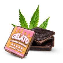 Gelato cannabis brownies THC free (40pcs/box)