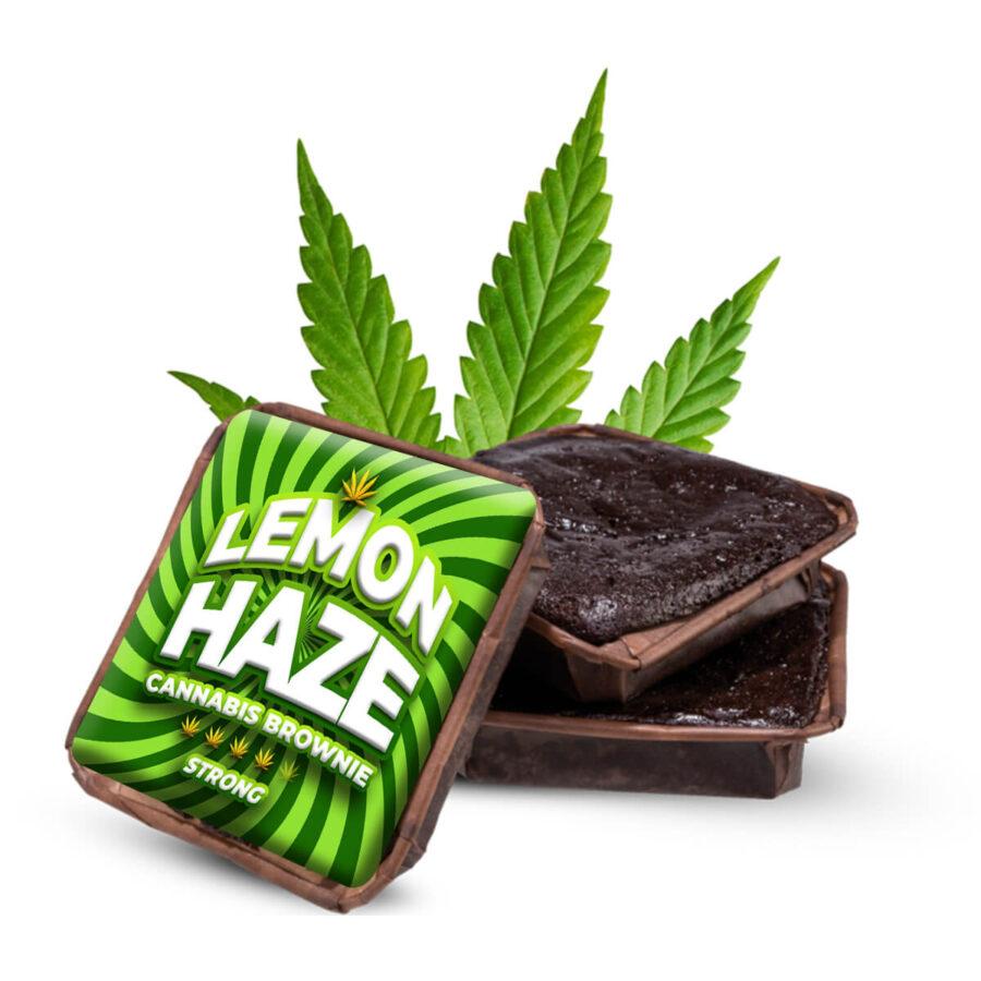 Lemon Haze cannabis brownies THC free (40pcs/box)