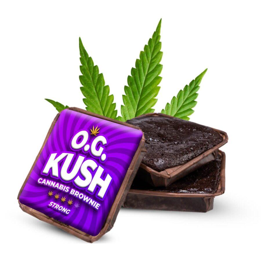 O.G. Kush cannabis brownies THC free (40pcs/box)