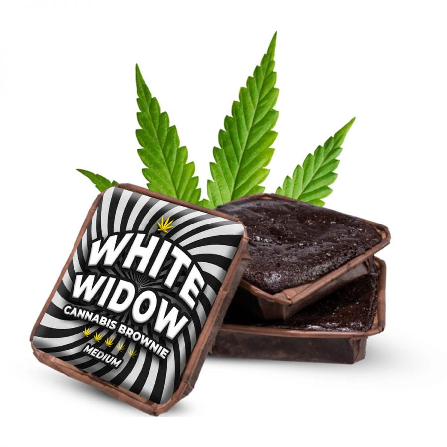 White Widow cannabis brownies THC free (40pcs/box)