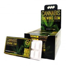 CBD Eucalyptus mint chewing gum THC free (24pcs/display)