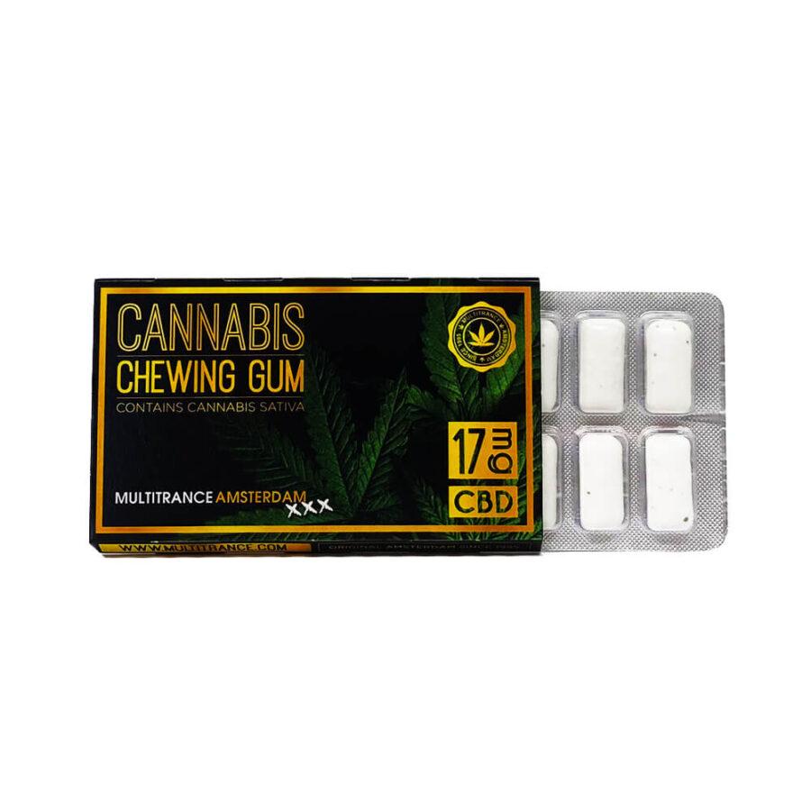 CBD Eucalyptus mint chewing gum THC free  (24pcs/display)