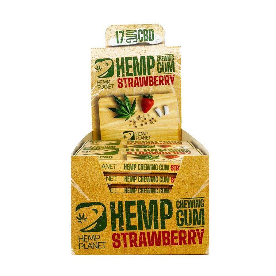 CBD Eucaliptus Mint Hemp Chewing Gums THC Free (24pcs/display)